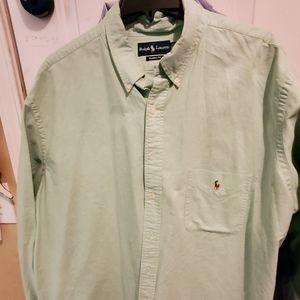 Polo Green button up long sleeve